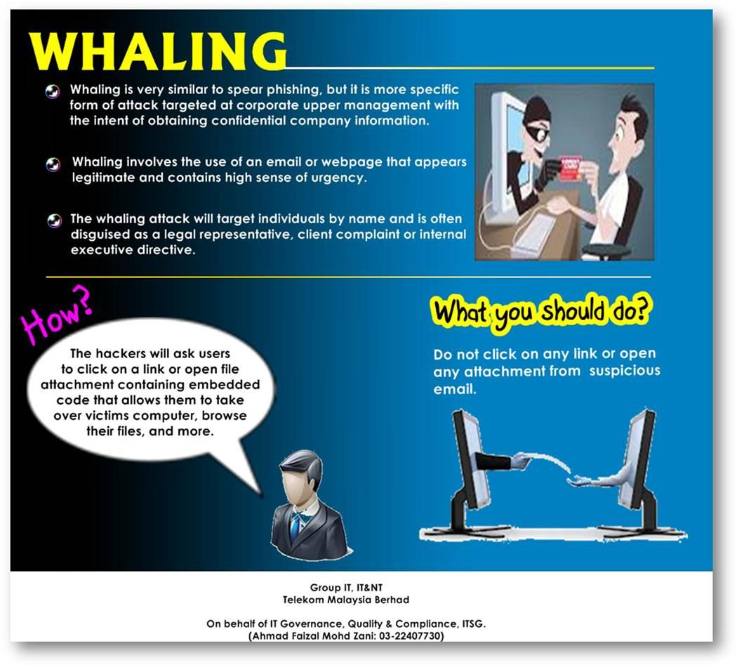IT Security Awareness #11: Whaling – ITSD Portal