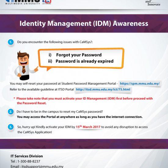 Idm Reset Code